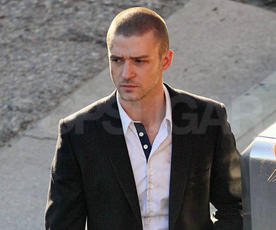Slide Picture of Justin Timberlake on the Set of Now in LA