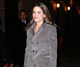 Slide Picture of Amanda Peet Arriving at The Late Show Studios
