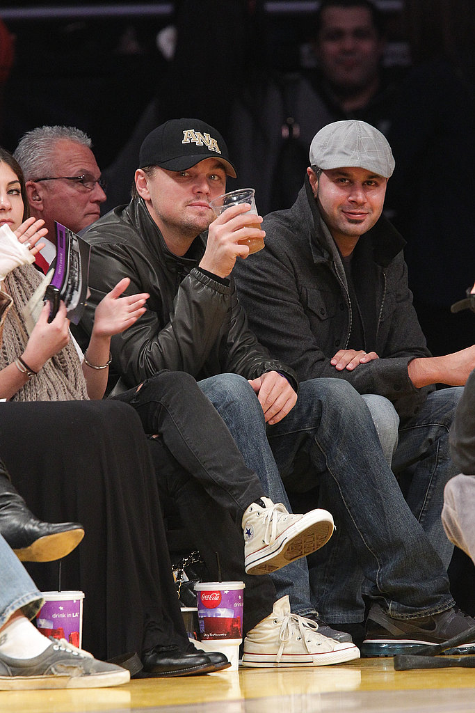 Leonardo DiCaprio Sips Away His Sorrows as He Watches the Lakers Lose