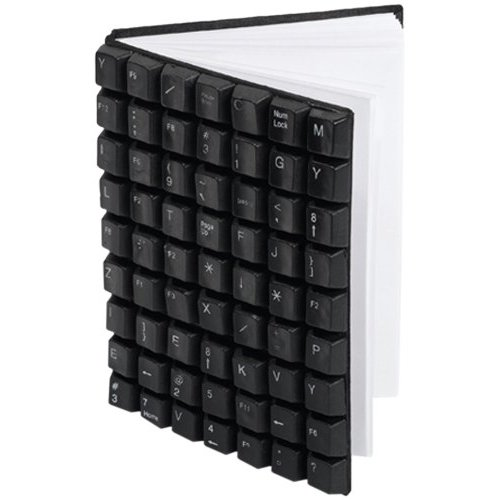 Two's Company Recycling is Key Recycled Keyboard Notebook ($12)