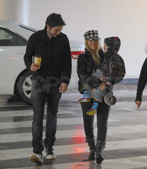 Pictures of Christina Aguilera With Max and Matthew Rutler at Museum in LA