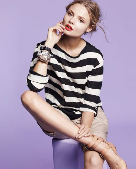 The stripe sweater ($88) with a utilitarian twist.