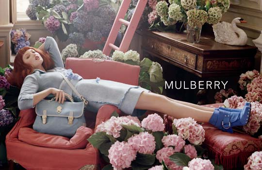 Lindsey Wixson for Mulberry, by Tim Walker