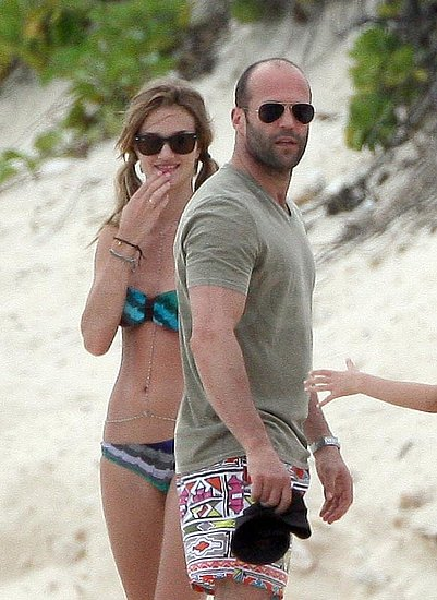 Pictures of Victoria's Secret Model Rosie Huntington-Whiteley in a Bikini While in Anguilla With Shirtless Jason Statham