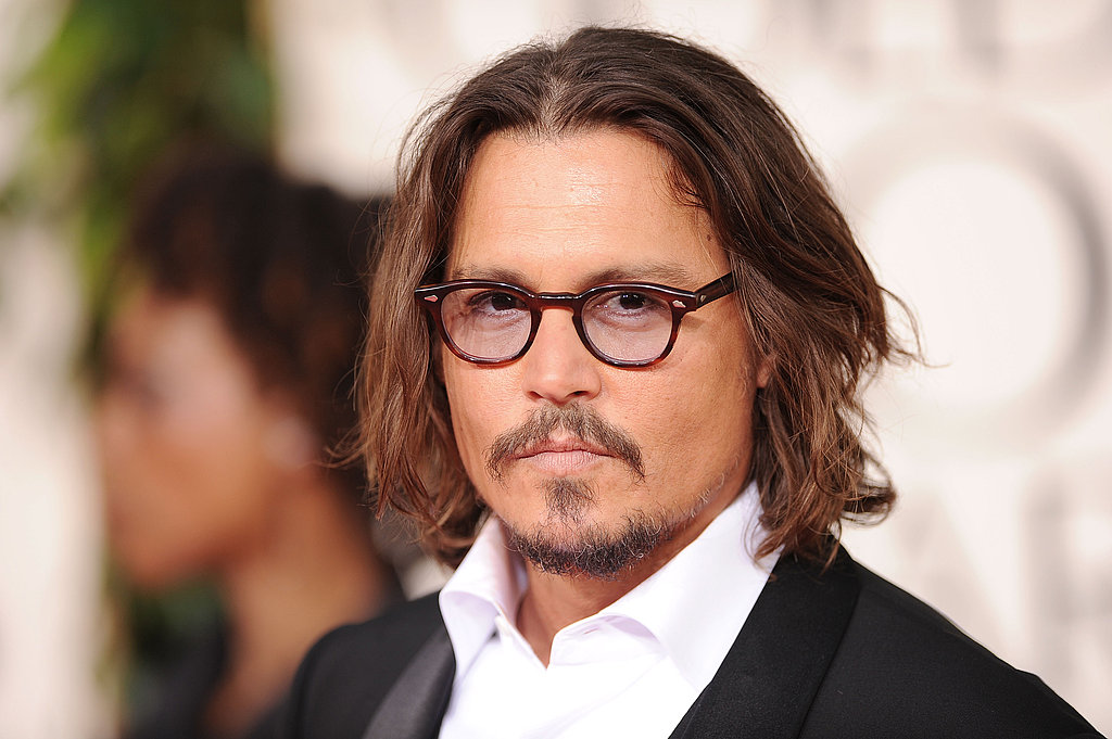 Double Nominee Johnny Depp Steps Out at Golden Globes