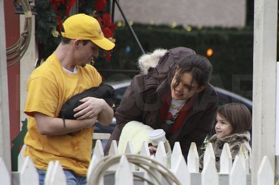 Pictures of Katie Holmes and Suri Cruise on the Set of Jack and Jill