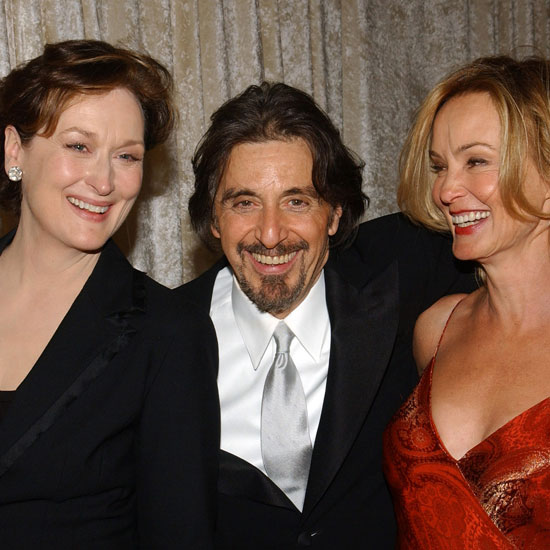 Meryl Streep, Al Pacino and Jessica Lange partied backstage in 2004.