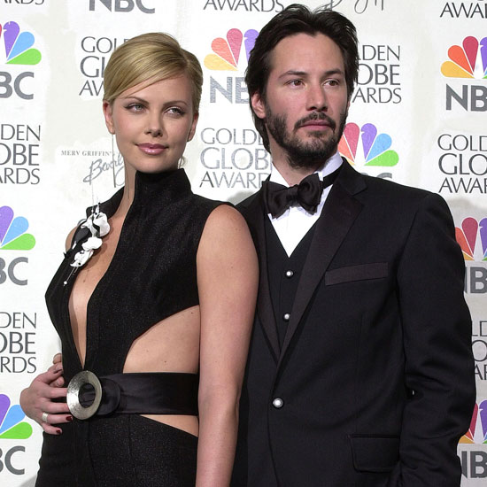 Charlize Theron and Keanu Reeves posed backstage together at the awards.