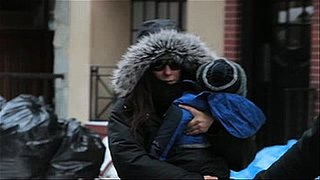 Video of Sandra Bullock and Louis Bullock in the Snow in New York