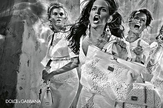 Alessandra, Izabel, Maryna, and Isabeli Are Making Some Funny Faces in Dolce & Gabbana's Spring 2011 Ad Campaign