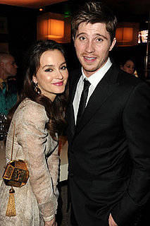 Pictures of Leighton Meester and Garrett Hedlund at Golden Globes Afterparty