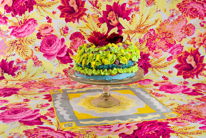 Amy Stevens's Confections (adorned) #14 photograph ($20 and up) showcases an elaborately concocted homemade cake with an exuberantly imperfect design — we can't all be Martha Stewart.