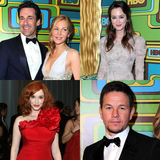 Pictures of Golden Globes HBO and AMC Afterparty with Jon Hamm, Christina Hendricks, Mark Wahlberg, Leighton Meester