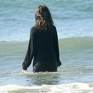 Guess Who Walked Into the Water With All Her Clothes On?