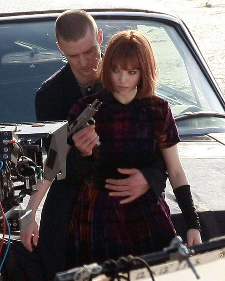 Pictures of Justin Timberlake on the Set of Now in Downtown LA With Amanda Seyfriend