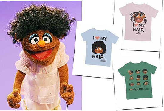 I Love My Hair T-Shirts From Sesame Street
