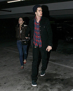 Pictures of Andrew Garfield and Shannon Woodward Leaving Movie Theater