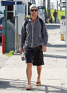 Pictures of Matthew McConaughey Walking to Work in Venice