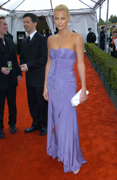 Charlize stunned in lilac in 2004.