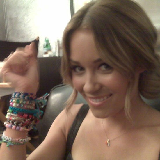 Lauren Conrad showed off her wrist full of bracelets.  Source: Twitter user laurenconrad