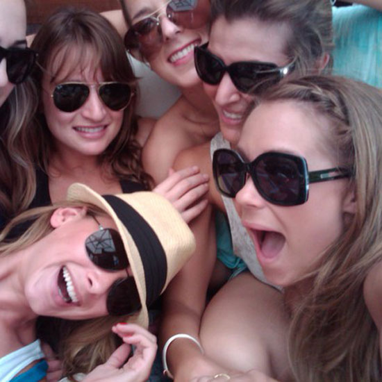 Lauren Conrad and her friends hung out in the sun.  Source: Twitter user laurenconrad