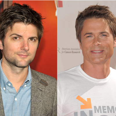 Adam Scott and Rob Lowe on Parks and Recreation