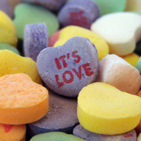Conversation Heart Cookies and Cakes For Valentine's Day