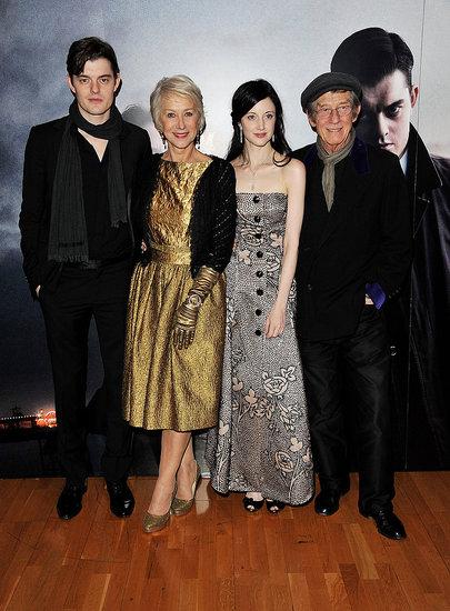 Pictures of Sam Riley, Helen Mirren, Andrea Riseborough, and John Hurt at Brighton Rock Premiere in London