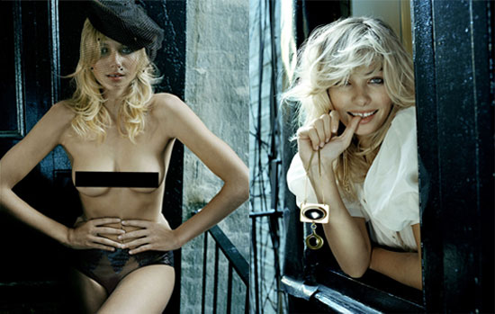 Jessica Hart and Lydia Hearst Go Topless in Marc Hom's sexy, nun inspired shoot