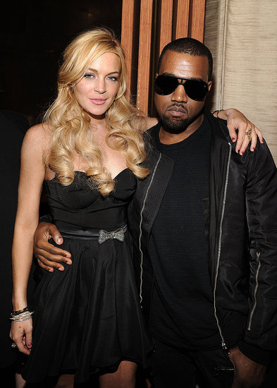 Pictures of Lindsay Lohan and Kanye West at a Giuseppe Zanotti Party