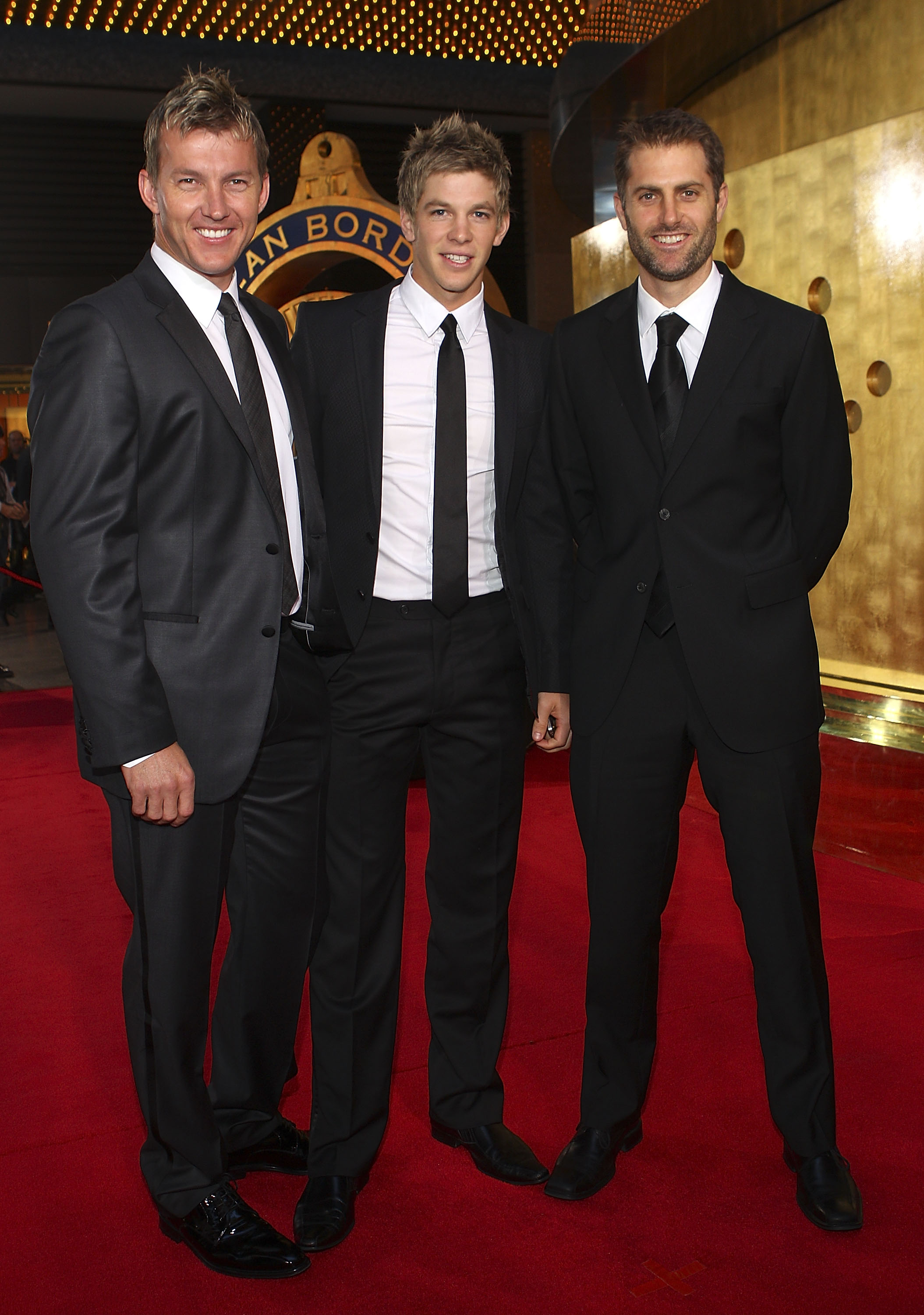 Brett Lee, Tim Paine and Simon Katich