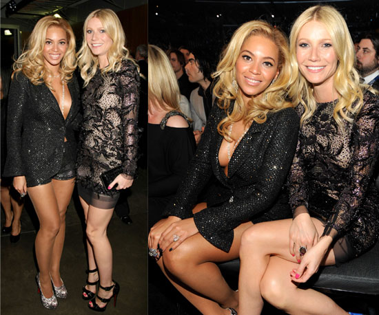 Beyonce and Gwyneth Paltrow Both go short and sexy for the Grammys 2011