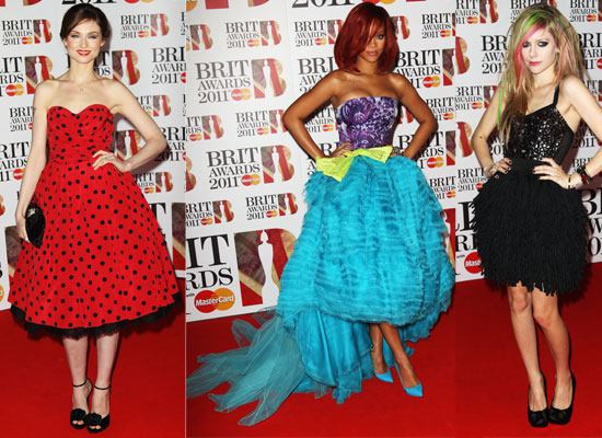 See All the Pics from the 2011 Brit Awards Red Carpet including Rihanna, Justin Bieber and Cheryl Cole