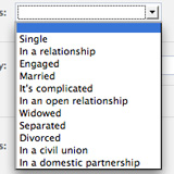 New Relationship Status Options on Facebook