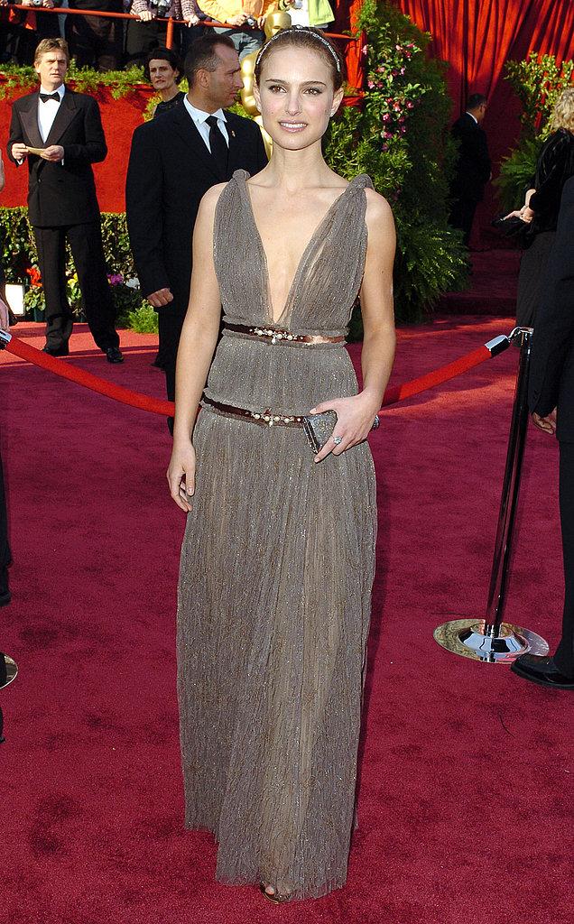 Natalie Portman at the 2005 Academy Awards