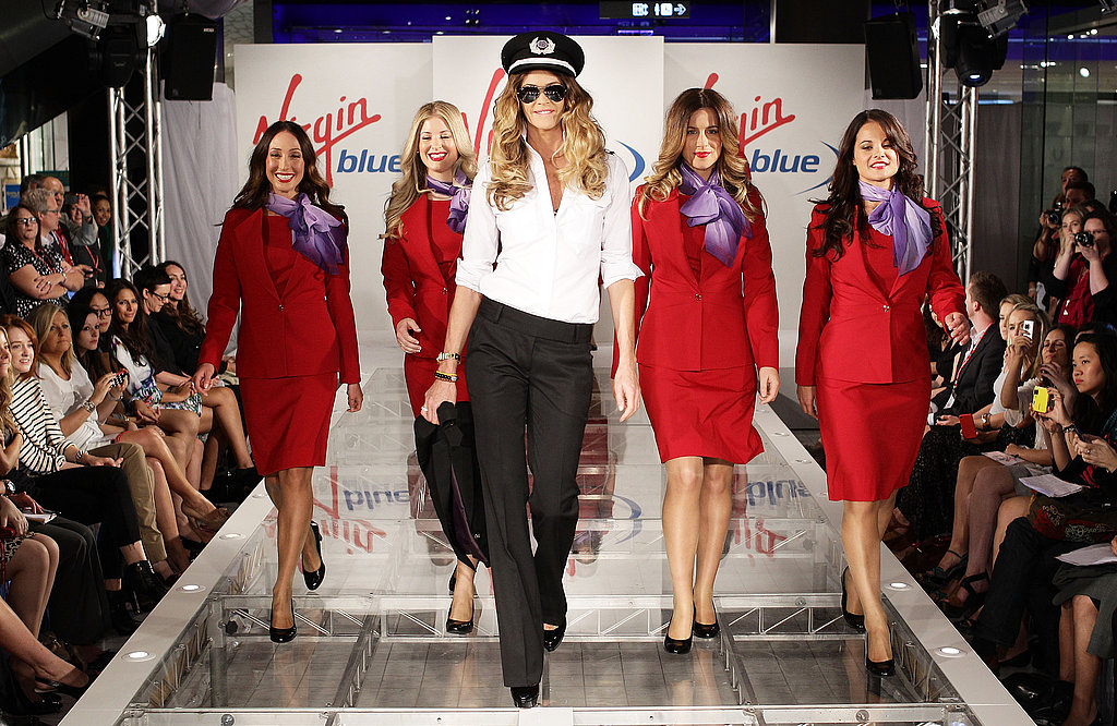 Elle Macpherson at Virgin Blue Uniform Relaunch