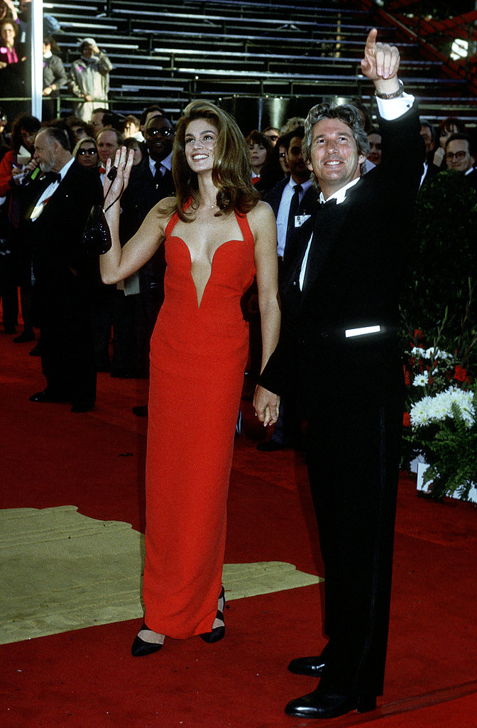 Cindy Crawford at the 1991 Academy Awards