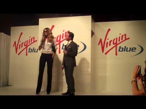 Elle Macpherson Video from The Virgin Blue Runway Parade in Sydney