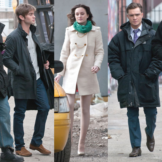Pictures of Ed Westwick, Leighton Meester, and Chace Crawford Shooting Gossip Girl in Brooklyn 2011-02-24 13:41:51