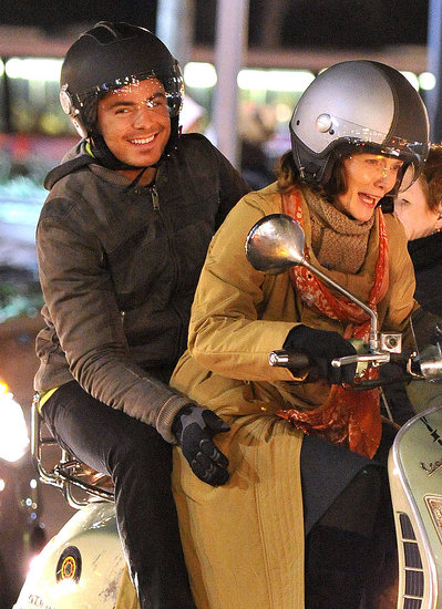 Pictures of Zac Efron and Michelle Pfeiffer Filming New Year's Eve In NYC on a Vespa