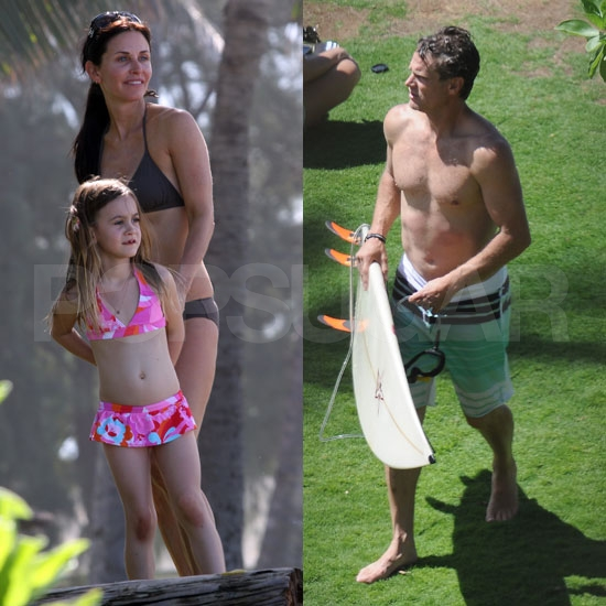 Courteney Cox Bikini Pictures With Coco and Brian Van Holt in Hawaii