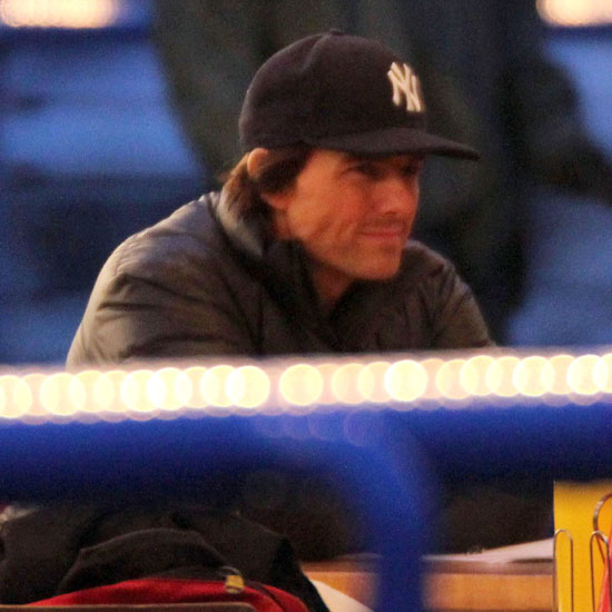 Pictures of Tom Cruise on the Set of Mission Impossible: Ghost Protocol With Paula Patton and Simon Pegg