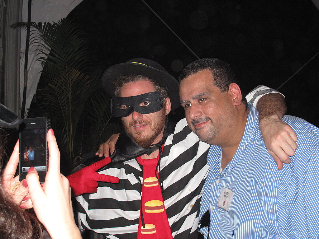 """Spike """"Hamburglar"""" Mendelsohn taking the time to ham it up for the camera with adoring fans."""