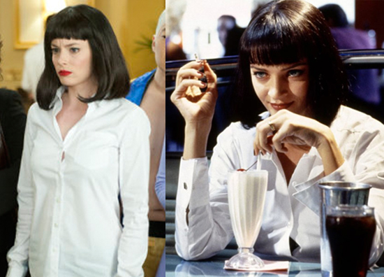 Mia Wallace Pulp Fiction Outfit Pulp Fiction Art Mia Wallace