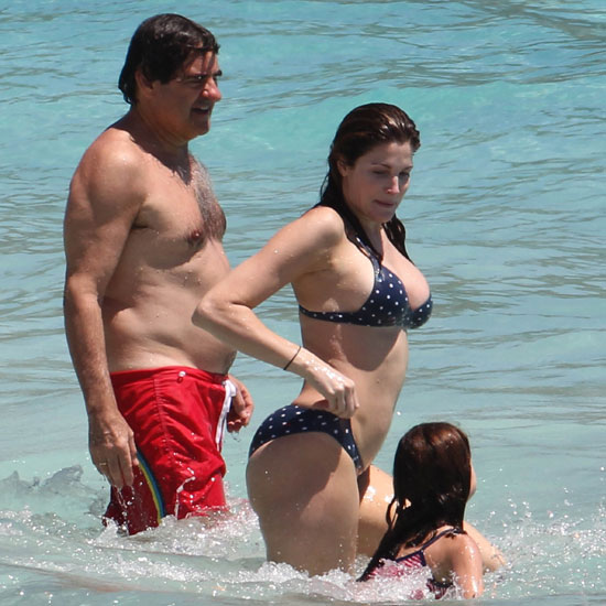 Pictures of Stephanie Seymour in a Bikini With Husband Peter Brant and Kids
