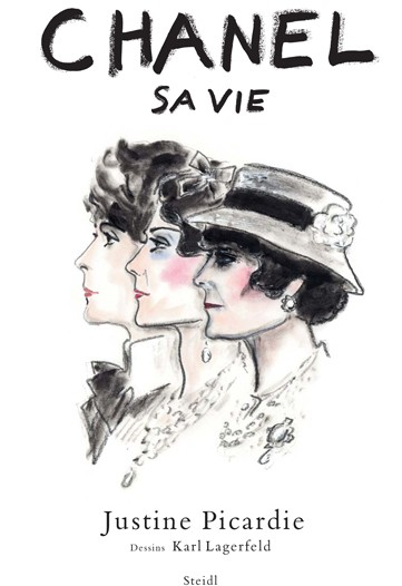 Karl Lagerfeld Sketches of Gabrielle Coco Chanel for Biography by Justine Picardie