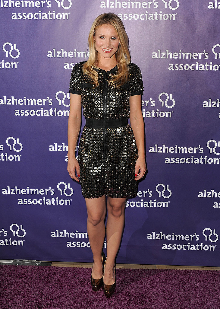 Kristen Bell sparkled in a sequined sheath that fit her like a glove.