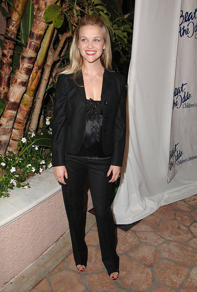 Reese Witherspoon in Black Pantsuit at 2006 Beat the Odds Awards