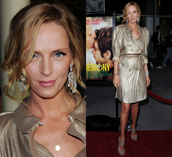 Photos of Uma Thurman at the Premiere of Ceremony