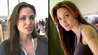 Video of Angelina Jolie's New Coordinate Arm Tattoo in Tunisia